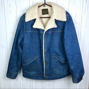 Vintage Wrangler Wrange Sherpa Lined Denim Coat